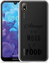Huawei y5 2019 Hoesje Mood for Food Black