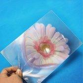 Volle pagina vergrootglas Fresnellens 3X Vergroting PVC vergrootglas