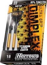 Harrows Dimplex Gold 80% Tungsten Softtip 16 Gk - Zwart - Dartpijlen