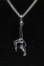 Zilveren Turnster ketting hanger