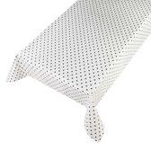 Tafelzeil Dots Wit - Beschikbaar in 12 maten