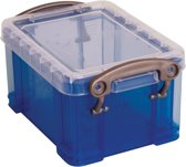 25x Really Useful Box visitekaarthouder 0,3 liter, transparant blauw