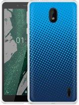 Nokia 1 Plus Hoesje lichtblauwe cirkels