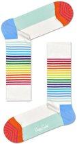 Happy Socks Half Stripe Socks White, Maat 41/46