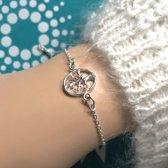 Zilveren Bedel armbandje Tree of life