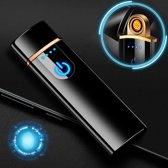 De Ultieme Aansteker (Windproof) - Touch Screen Lighter Elektrisch (Mat Zwart)
