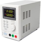 PROGRAMMEERBARE LABOVOEDING 0-30 VDC / 5 A max. - DUBBELE LED-DISPLAY met USB 2.0-INTERFACE