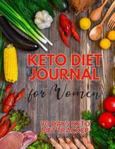 Keto Diet Journal For Women - 90 Days Keto Diet Tracker