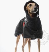 DG Soft Shell® Warme hondenjas Zwart Rood - Maat 24 (meer dan 30kg) DGXL