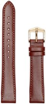 Hirsh Horlogeband -  Osiris Middenbruin - Leer - 16mm
