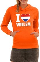 Oranje I love Willem hoodie dames XS (34)
