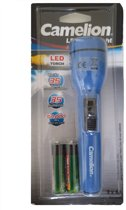 Camelion zaklamp inclusief 2x AA batterijen - Blauw