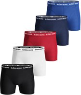 Björn Borg Heren Boxers 5-Pack Multikleuren Long Solid Stretch - M