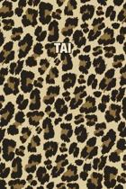 Tai: Personalized Notebook - Leopard Print (Animal Pattern). Blank College Ruled (Lined) Journal for Notes, Journaling, Dia