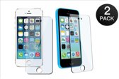 Paxx® Gratis 1+1 Screen Protector Glass Tempered Glass Doorzichtig 2 stuks voor Apple iPhone 5/5S/SE/5C