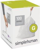 Simplehuman Afvalzak Code G - Voor Pocket Liners - Kunststof - 30 l - 5x20 Stuks - Wit