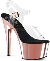 EU 39 = US 9 | ADORE-708 | 7 Heel, 2 3/4 PF Ankle Strap Sandal