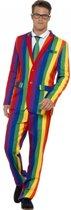 Heren kostuum regenboog 52-54 (l)