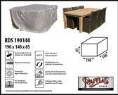 RDS190140 Beschermhoes voor tuinset, tafel met stoelen 190 x 140 H: 85 cm taupe