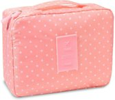 Travel 'Pink Dot' Toilettas Roze Stippen | Make Up Organizer/Travel Bag/Reistas | Fashion Favorite