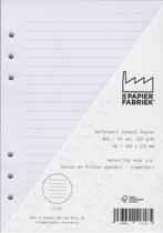 Aanvulling A5 Notitiepapier voor o.a. Succes, Filofax en Kalpa  Agenda's/Planners 50 vel = 100 pagina's 120 g/m², Gelinieerd (Breed) A5 Formaat  Wit Papier