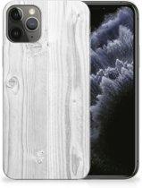 iPhone 11 Pro Bumper Hoesje White Wood