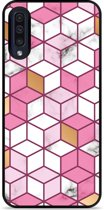 Galaxy A30s Hardcase hoesje Pink-gold-white Marble