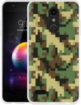 LG K30 Hoesje Pixel Camouflage Green