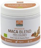 Mattisson / Maca Blend Biologisch – Rode, Gele & Zwarte – 300 gram
