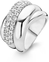 TI SENTO Milano Ring 1642ZI - Maat 54 (17,25 mm) - Gerhodineerd Sterling Zilver