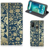 Xiaomi Mi A2 Lite Smart Cover Golden Flowers