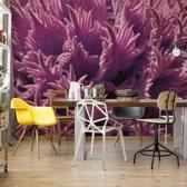 Fotobehang Pink Organic Texture | V4 - 254cm x 184cm | 130gr/m2 Vlies