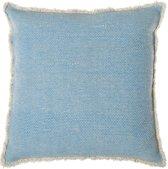 Riverdale Vintage - Sierkussen - 50x50 cm - Licht Blauw