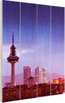 De torens van Madrid Hout 40x60 cm - Foto print op Hout (Wanddecoratie)