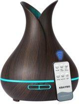 Luchtbevochtiger / Aroma Diffuser 7LED Color Dark Wood + afstandsbediening