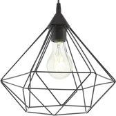 EGLO Vintage Tarbes - Hanglamp - Draadlamp - 1 Lichts - Ø325mm. - Zwart