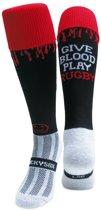 WackySox Give Blood Play Rugby Zwart - 41-46