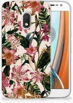 Motorola Moto G4 Play Uniek TPU Hoesje Flowers