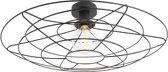 QAZQA Laurent cl - Hanglamp - 1 lichts - Ø 600 mm - Zwart