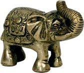 Beeldje olifant slurf op hoofd 7.5 cm   GerichteKeuze