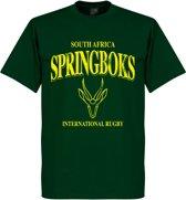 Zuid-Afrika Springboks Rugby T-Shirt - Donkergroen - XL