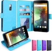 Premium Cyclone cover wallet hoesje OnePlus 2 blauw