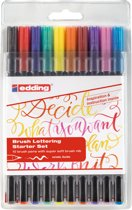 Edding 1340 Brushpen tangle assorti, etui à 10 stuks