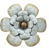 Bloem vorm decoratie wanddecoratie muurdecoratie metaal thema bloemen