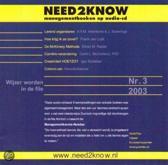 Lerend organiseren Need2Know (luisterboek)