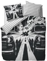 Covers & Co Race Dekbedovertrek - Litsjumeaux - 240x200/220 cm - Black/White