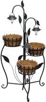 vidaXL - Bloembak Hanging basket standaard met LED-verlichting