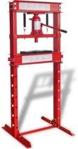 vidaXL Werkplaatspers 20 ton rood