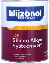 Wijzonol LBH Silicon Alkyd Systeemverf Wit 1 Liter