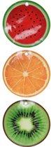 9x Koelelementen fruitschijfjes - koelblokken